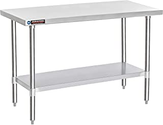 """DuraSteel Stainless Steel Work Table 30"""" x 60"""" x 34"""" Height - Food Prep Commercial Grade Worktable - NSF Certified - Fits for use in Restaurant, Business, Warehouse, Home, Kitchen, Garage"""