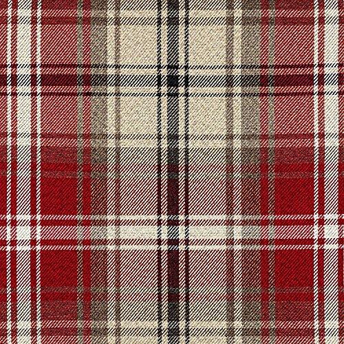 McAlister Textiles Angus | Stoff im Tartan-Muster kariert in Rot 140cm Breite | per Meter | Textil...
