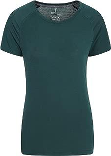Manches Courtes Respirant Mountain Warehouse T-Shirt IsoCool Technique pour Femmes col Rond Marche et Salle de Sport