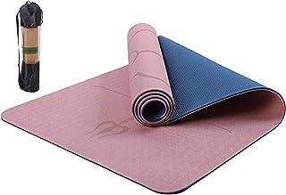 Haioo Esterilla de Yoga Antideslizante con Línea Corporal Colchoneta de Yoga para Yoga Pilates Gimnasia Tonificación Ejerc...