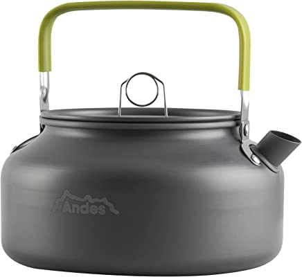 1L Capacity ― Small /& Lightweight Highlander Whistling Kettle ― Aluminium Great for Camping ― Available in Navy Blue /& Green