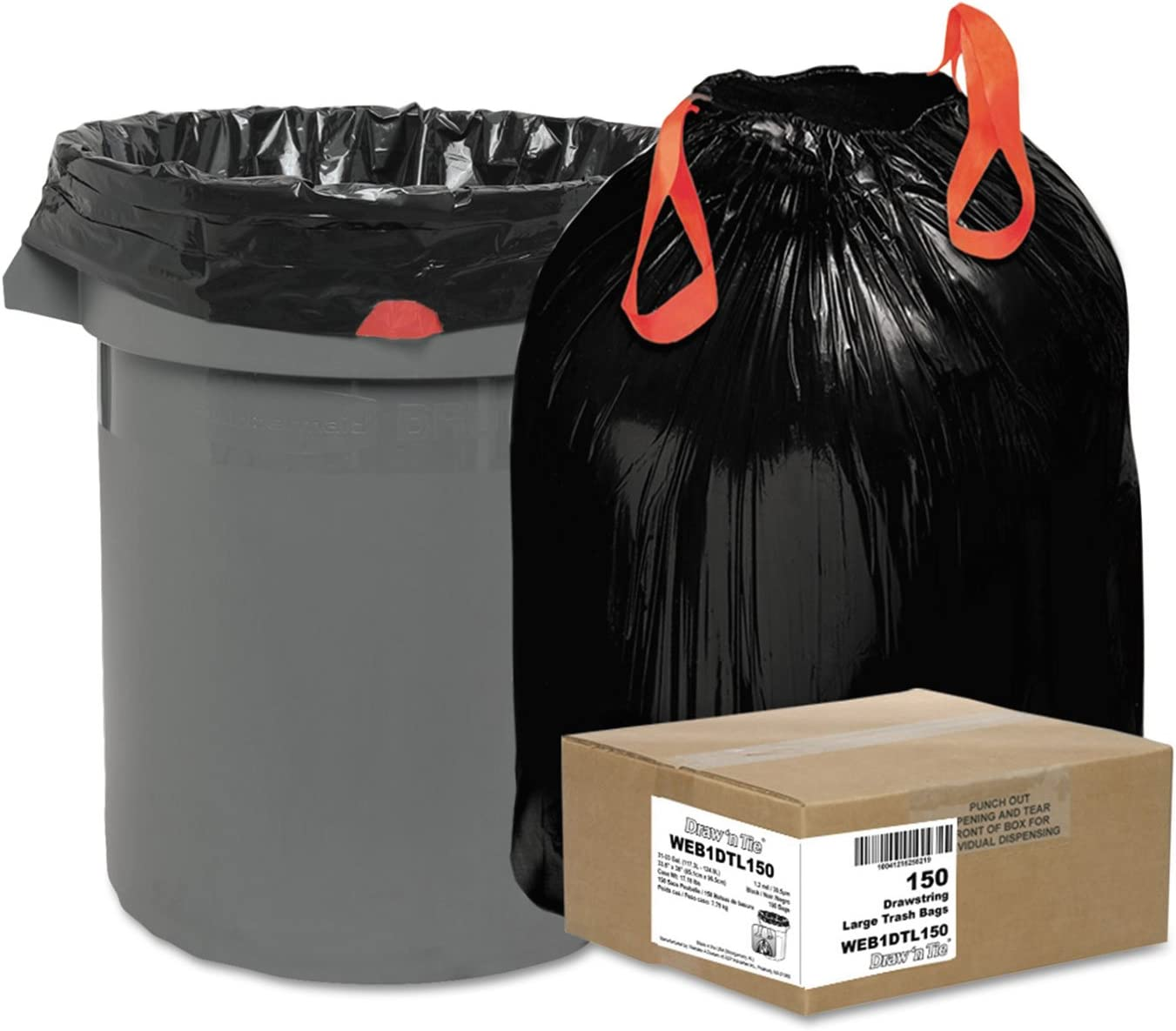 Heavy-Duty Bags 33gal Complete Free Ranking TOP5 Shipping 1.2 mil 38 2 x Black 150 33-1 Box