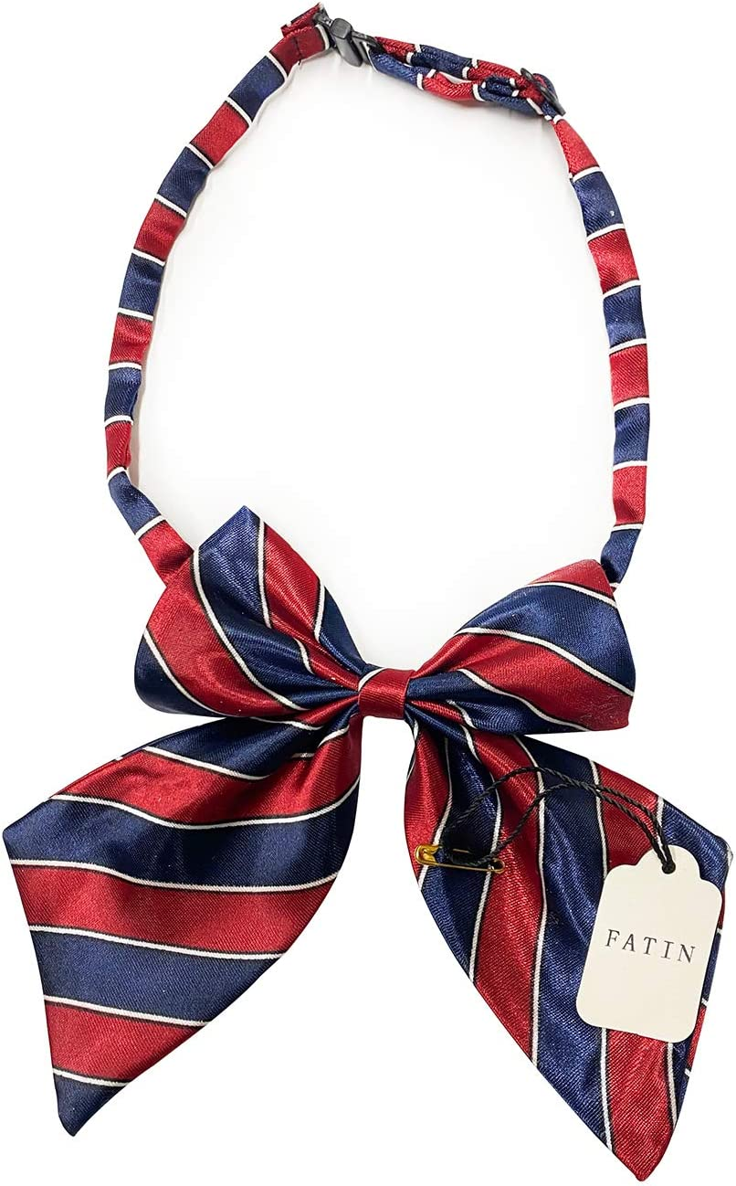 FATIN Cravats, Christmas Bow Tie, Bow Tie is Adjustable, Elegant Bow, Buckle Design, Silk Woven Material, Good Gift, Washable