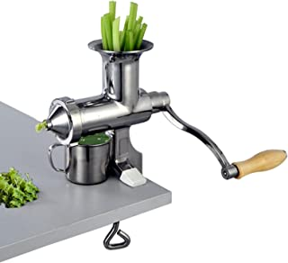 LOVSHARE Manual Juice Press Stainless Steel Wheatgrass Juicer Portable Manual Wheat Grass Juice Extractor Presser for Wheat grass and Leaf Vegetables