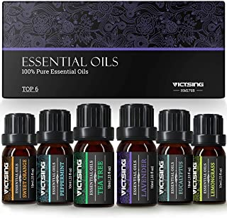 comprar comparacion VicTsing Aceites Esenciales para Humidificador,100% Pure Natural,Perfume de Aromaterapia, 6*10ml-Naranja Dulce, Lavanda, A...