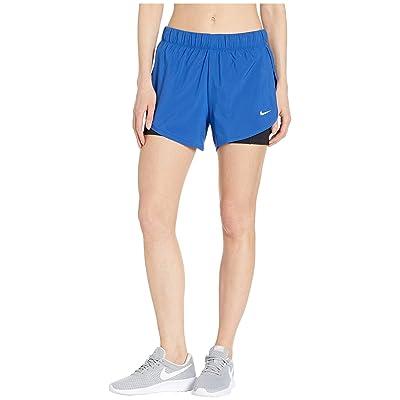 Nike Flex 2-in-1 Woven Shorts (Indigo Force/Black/White) Women