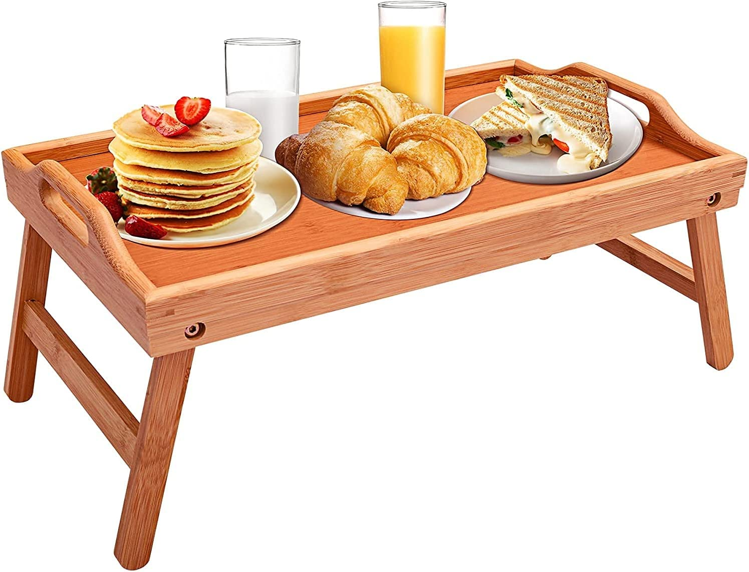 JYHZ Selling rankings Dining Bed Tray Table with Ranking TOP11 Foldable Breakfast Bamboo