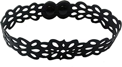 Black Swan Bali – Eco Hand Crafted Fair Trade - Recycled Rubber Inner Tube - Lacey Victorian Choker