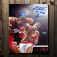Autographed Riddick Bowe Photograph - BIG DADDY vs Holyfield 8x10 - Autographed Boxing Photos