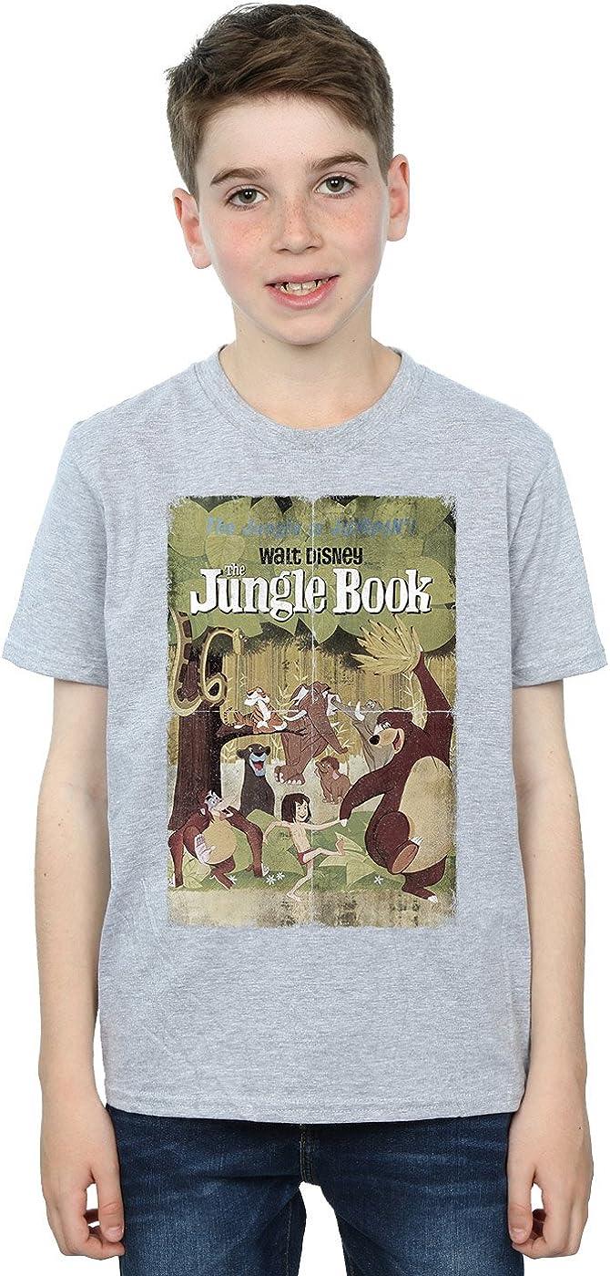 Disney Boys Jungle Book Retro Poster T-Shirt 9-11 Years Sport Grey