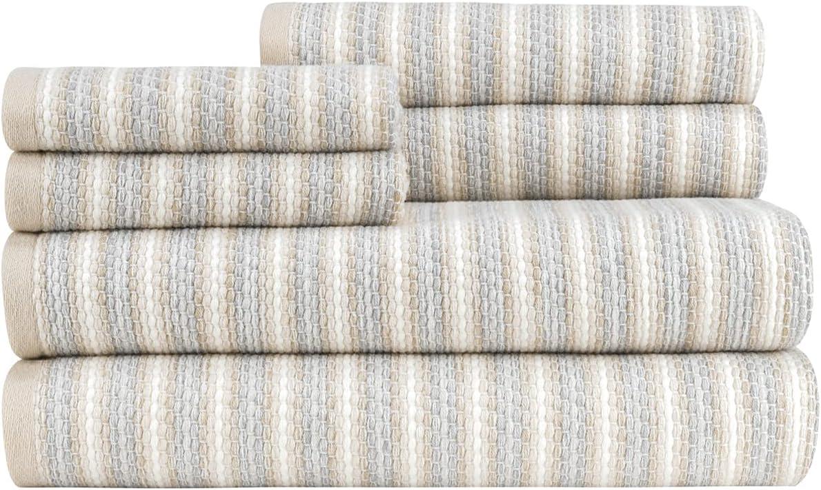 Marla Stripe ZT Neutral 6pc Towel Set