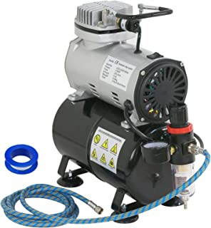 ZENY Pro 1/5 HP Airbrush Air Compressor Airbrushing Kit w/ 3L Tank and 6FT Hose Multipurpose for Spraying Cake Decorating ...