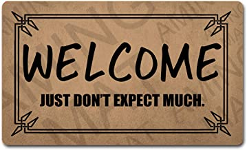 """LRZ Funny Welcome Mat with Rubber Back 30""""(L) x 18""""(W) Doormat for Entrance Way Monogram Mats Personalized Kitchen Rugs an..."""