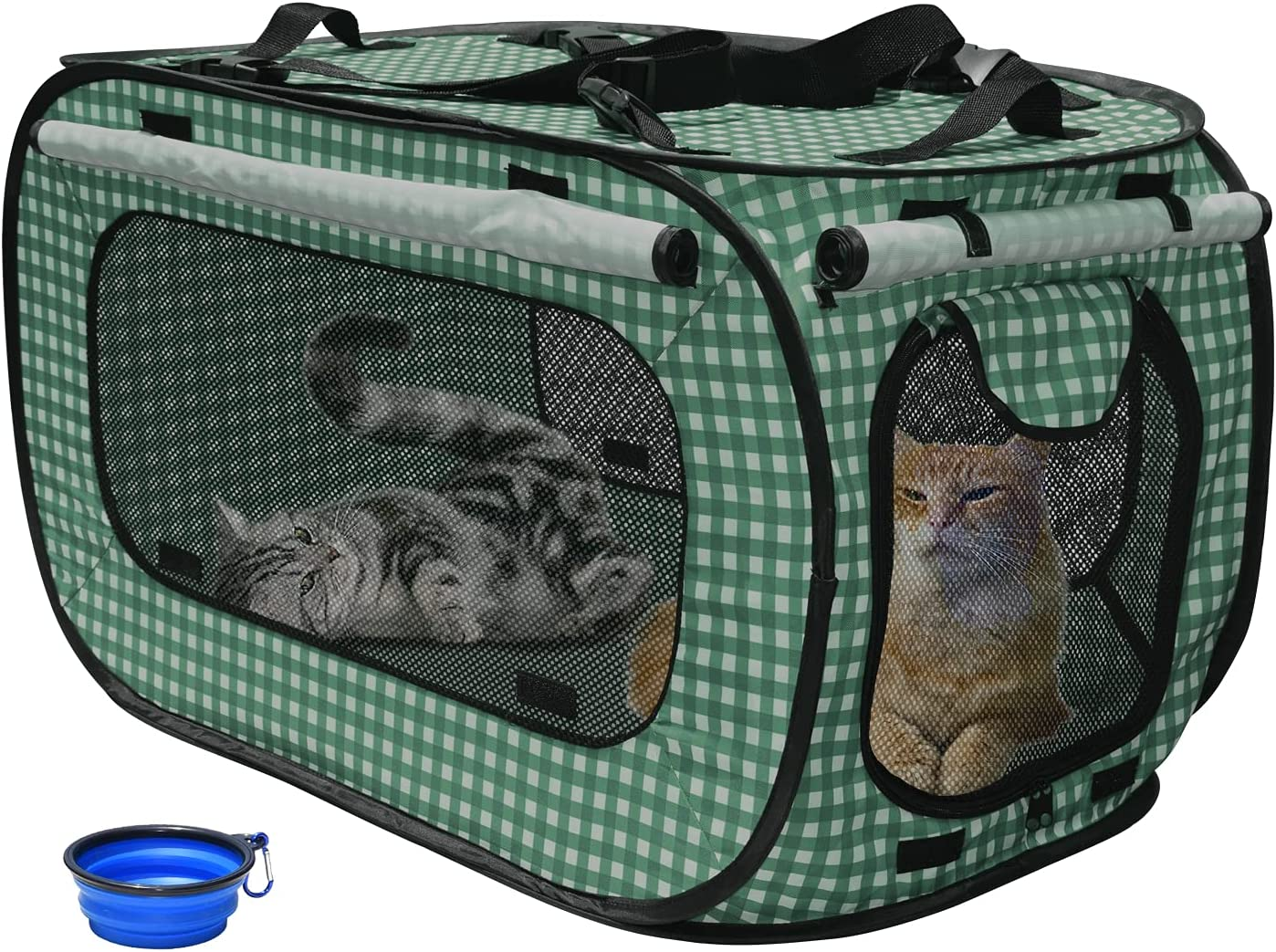 Rolscaler Portable Limited time sale Cat Cage Kennels Ranking integrated 1st place Travel for Por Outdoor Cats