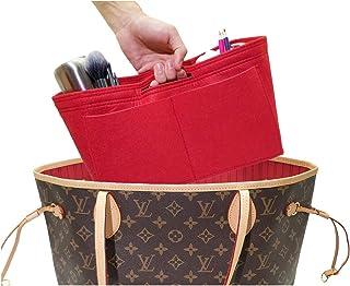 Felt Handbag Insert Organizer Zipper Pocket Bag In Bag Bottle Holder with Waterproof Pocket