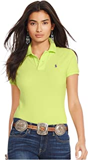 Ralph Lauren Yellow Cotton Shirt Neck Polo For Women
