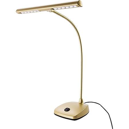 K & M 12297 Lampe à LEDs pour piano - couleur or