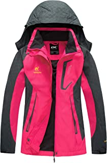 Diamond Candy Women Windproof Hooded Waterproof Rain Jacket Lightweight for Hiking