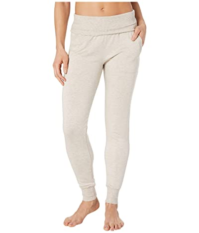 Beyond Yoga Fleece Fold-Over Sweatpants (Oatmeal Heather) Women