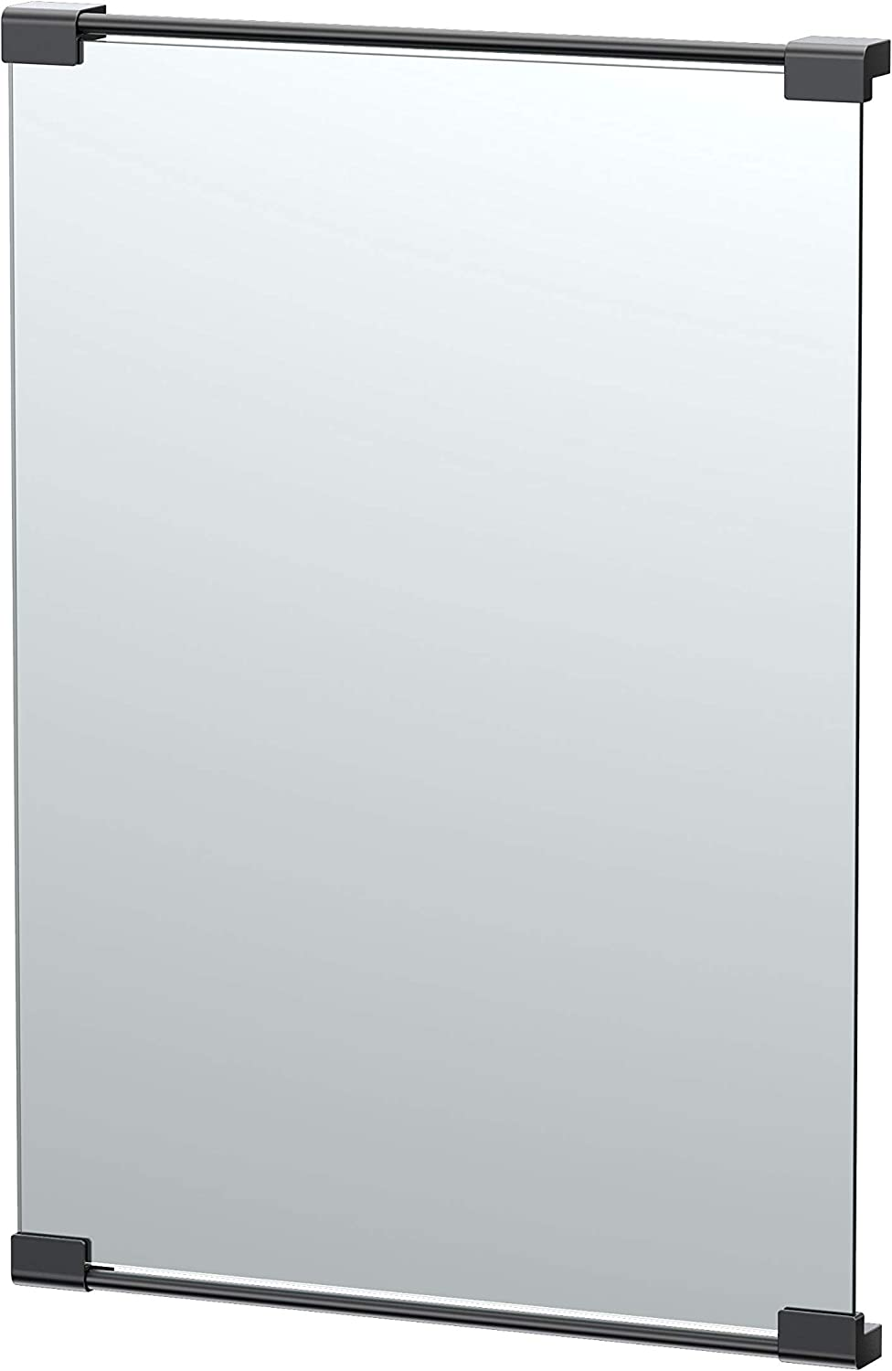Gatco Fixed Mount Rectangle Mirror, 30 Inch, Matte Black