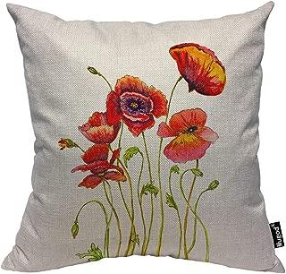 poppy floral decorative pillows