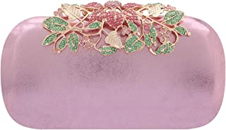 Fawziya Velvet Clutch Purse Rhinestones Peacock Clutch Evening Bag