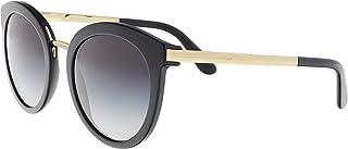 Dolce & Gabbana 0DG4268 501/8G 52 Occhiali da Sole, Nero (Black/Gradient), Donna