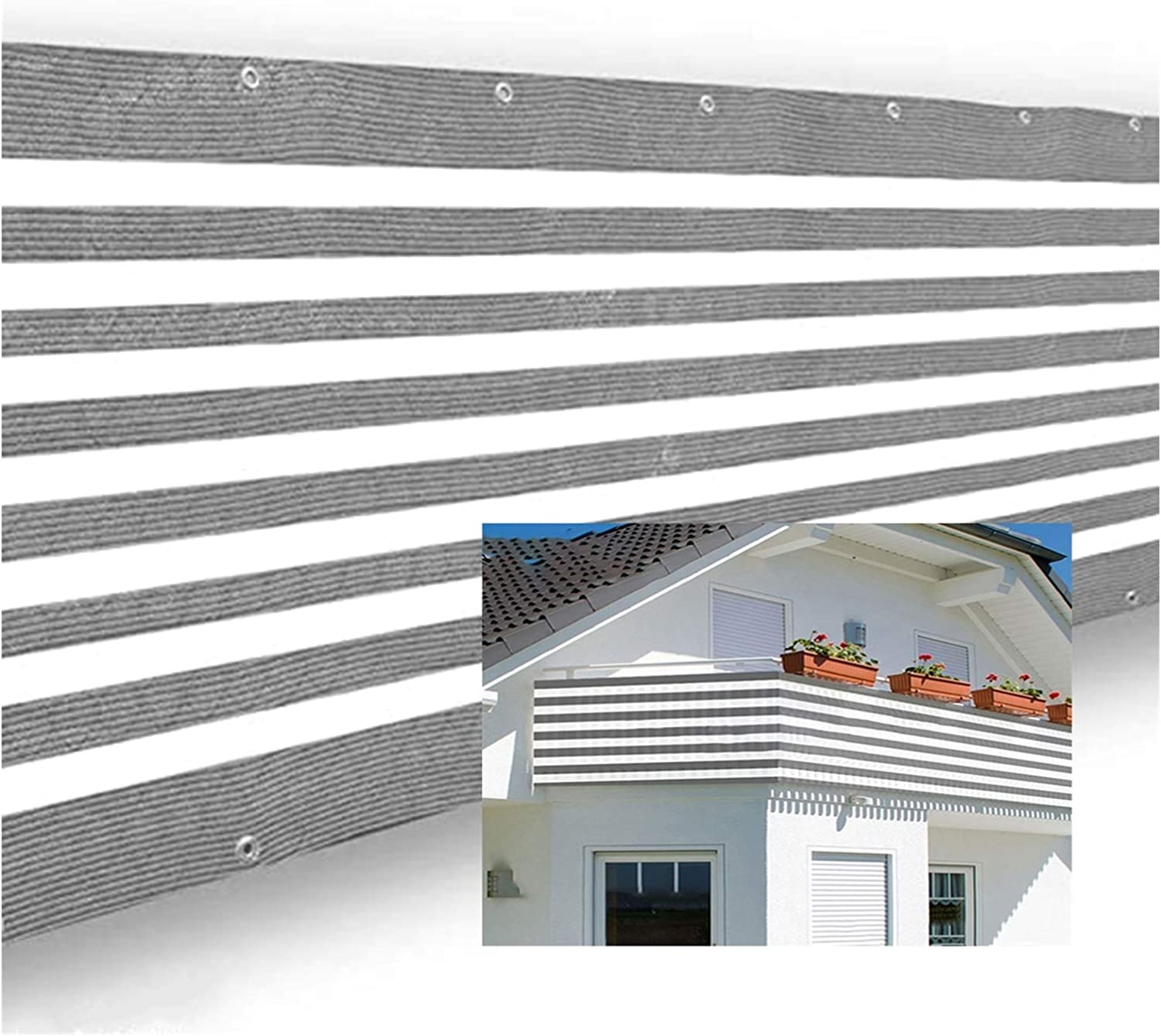XJJUN San Diego Mall Max 43% OFF Balcony Privacy Screen Weather Resista Breathable Fabric
