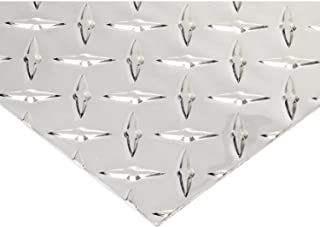 RMP 3003 H22 Aluminum Diamond Tread Sheet, 12 Inch x 24 Inch x 0.063 Inch Bright Finish