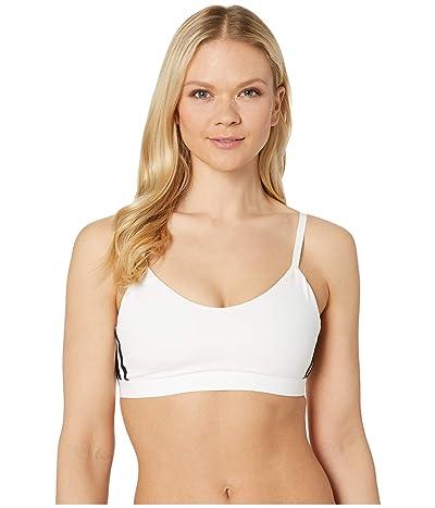 adidas All Me Stripe Bra (White/Black) Women