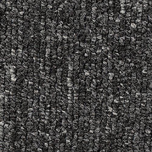 Teppichboden Auslegware | Büro Schlinge gemustert | 400 und 500 cm Breite | anthrazit grau | Meterware, verschiedene Größen | Größe: 8 x 5 m