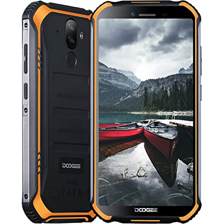"Móviles Libres, DOOGEE S40 Pro Móvil Resistente, 4GB + 64GB(SD 256GB), Cámara 13MP+2MP, Cámara Frontal 5MP, 4650mAh Movil Antigolpes, Android 10 Smartphone 4G de 5.45"" HD+ Pantalla, NFC, Naranja"