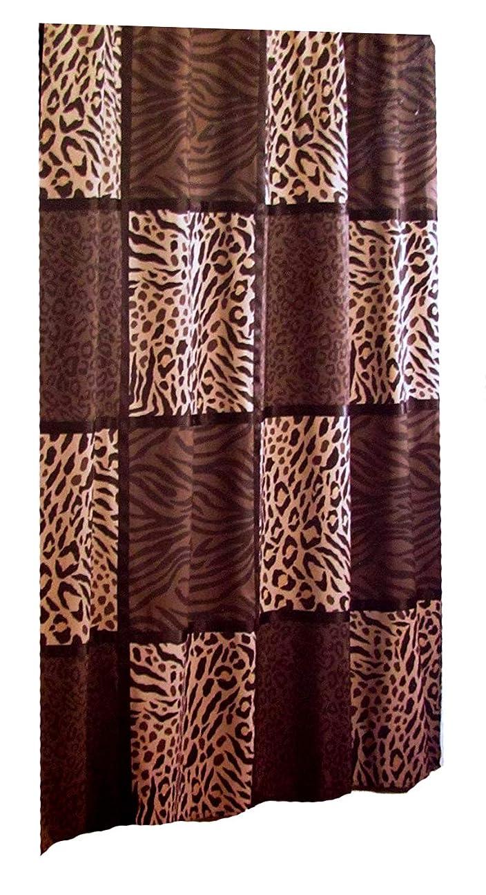 乏しいボックス狂人Animal Leopard Patch Shower Bathroom Curtain