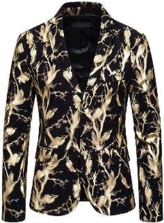 One Button Slim Fit Men Floral Blazer Suit Jacket for Men Prom Party Coat Performence Blazer