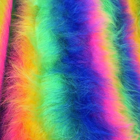 Tela de pelo sintético de pelo largo, juguetes de felpa suave ...