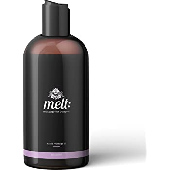 Melt Sensual Massage Oil + Free Couples Massage Tutorials + 3 Caps | Relaxing, Therapeutic Sweet Almond Oil | Moisturizing Skin Therapy | Perfect for Muscle, Body Tension & Stress Relief (8oz)