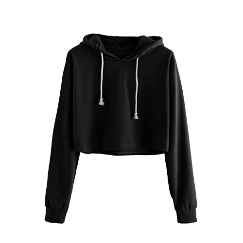 854d4ba4c8078 MAKEMECHIC Women s Long Sleeve Letter Print Sweatshirt Crop Top Hoodies