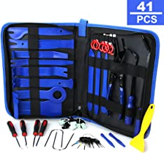 41Pcs Trim Removal Tool,Car Panel Door Audio Removal Tool Kit, Auto Clip Pliers Fastener Remover Pry Tool Set with Storage Bag