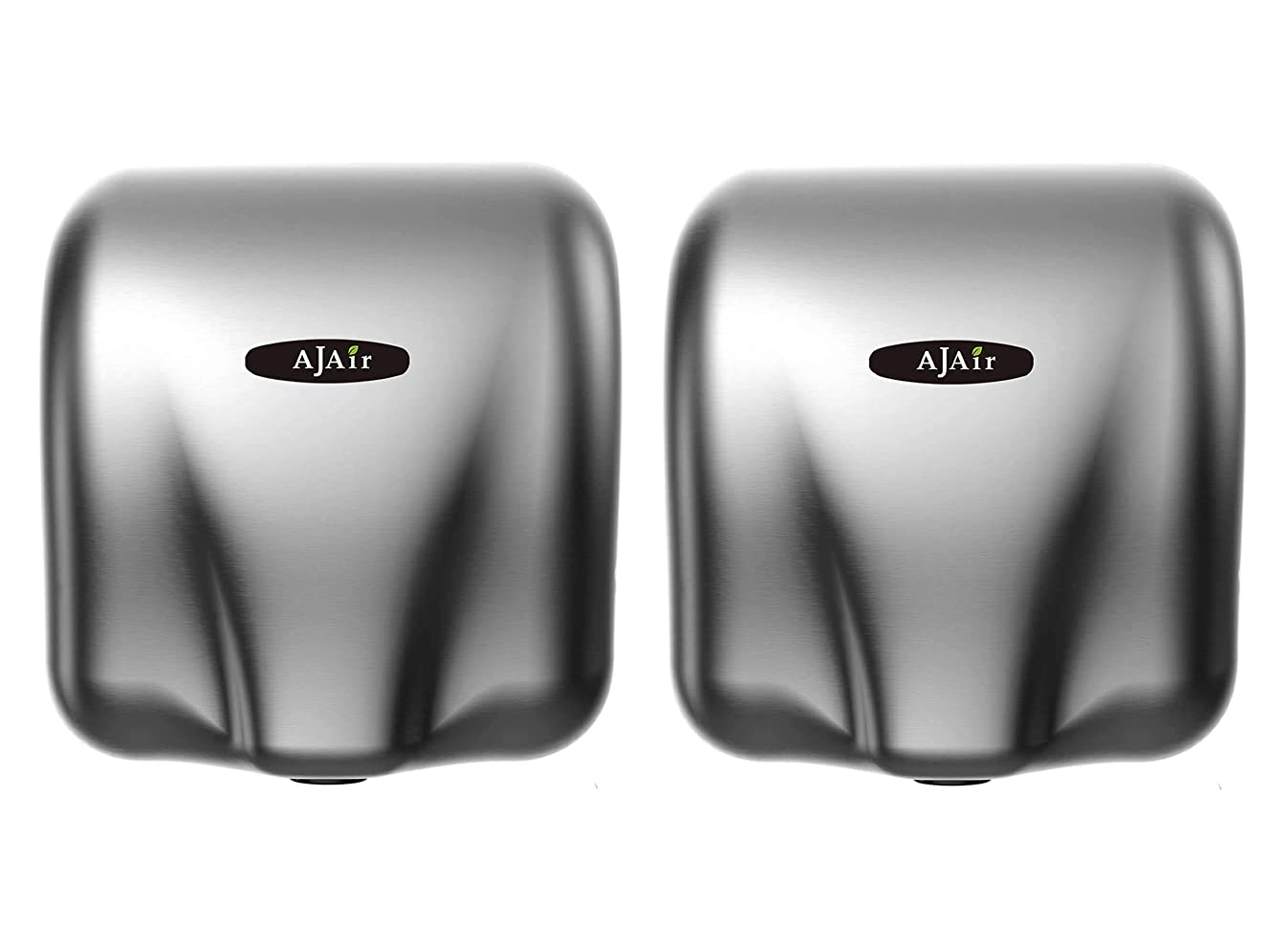 AjAir? (2 Pack) Heavy Duty Commercial 1800 Watts High Speed Automatic Hot Hand Dryer - Stainless Steel