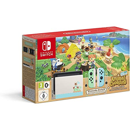Nintendo Switch consola 32gb Verde/turquesa Neón Animal Crossing (Edición Limitada) + Animal Crossing New Horizons