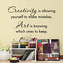 Decals Creativity Wall Art Studio Creativity is allowing yourself to make mistakes Art is knowing which ones to keep