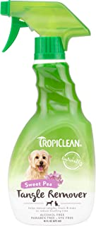TropiClean Sweet Pea Tangle Remover Spray for Pets, 16oz - Made in USA - Dog Detangler and Dematting Spray - Naturally Der...