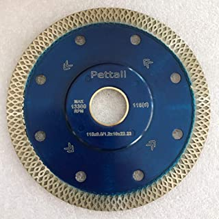 Pettall 4.5 Inch Super Thin Diamond Saw Blade for Cutting Porcelain Tiles,Granite Marble Ceramics (4.5