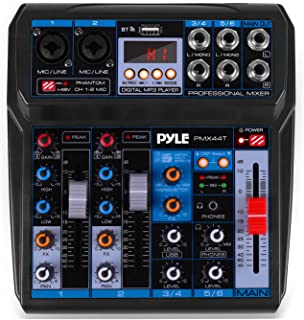 $59 » Professional Wireless DJ Audio Mixer - 6-Channel Bluetooth Compatible DJ Controller Sound Mixer w/DSP Effects, USB Audio I...