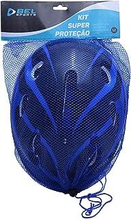 Kit Radical Proteção com Capacete EPS Bel Fix Azul M