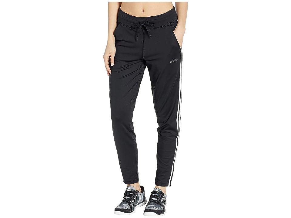 adidas Designed-2-Move 3-Stripes Long Pants (Black) Women's Casual Pants
