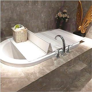 ZHANWEI 浴槽カバー 防塵ボード 風呂ふた,折りたたみ式 暖かくしてください、 防塵・滑り止め バススタンド (Color : White, Size : 180x80x1.2cm)