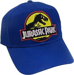 Jurassic Park Movie Logo Yellow Sci Fi Patch Snapback Royal Cap Hat