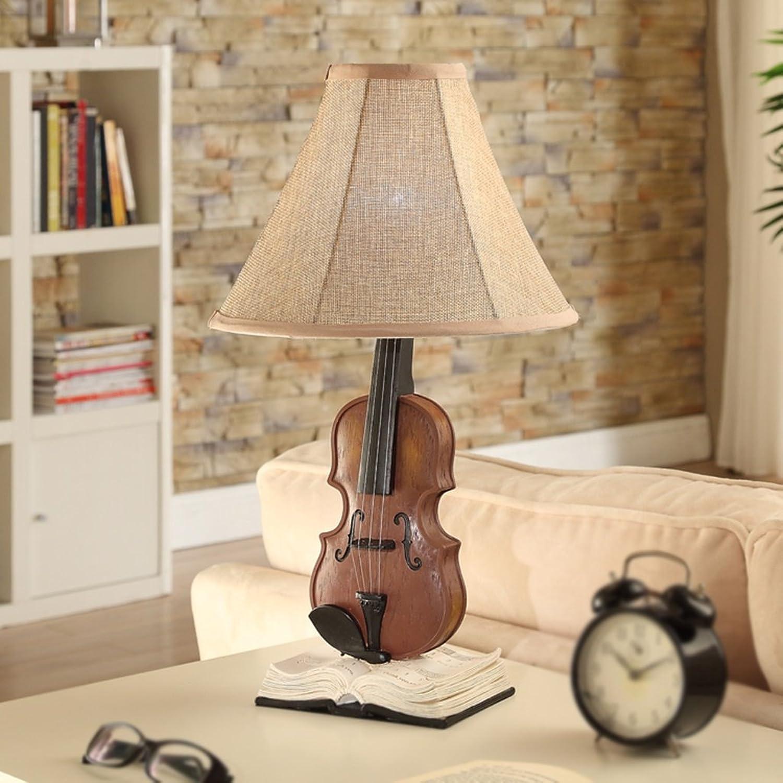 Guo Kreative Kreative Kreative Europäische Stil Tischlampe Ländliche pastorale Lampe Wohnzimmer Schlafzimmer Nachttischlampe Violine Lampe E27  1 B01MXQO3ED | Up-to-date Styling  f1eca5