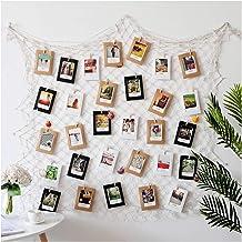 DGQ Photo Hanging Photo Display Frames 79 x 40inch DIY Picture Frames Collage Set Mediterranean Fishing Net Wall Decoratio...